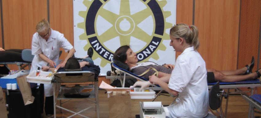 Mon Sang Pour Les Autres, action du Rotary